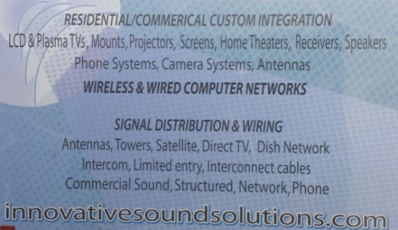 Innovative Sound Solutions Sign