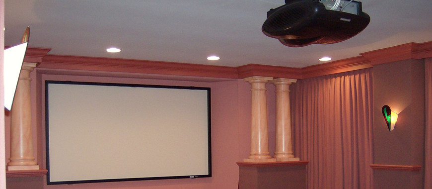 Screen and Projector presentation installed