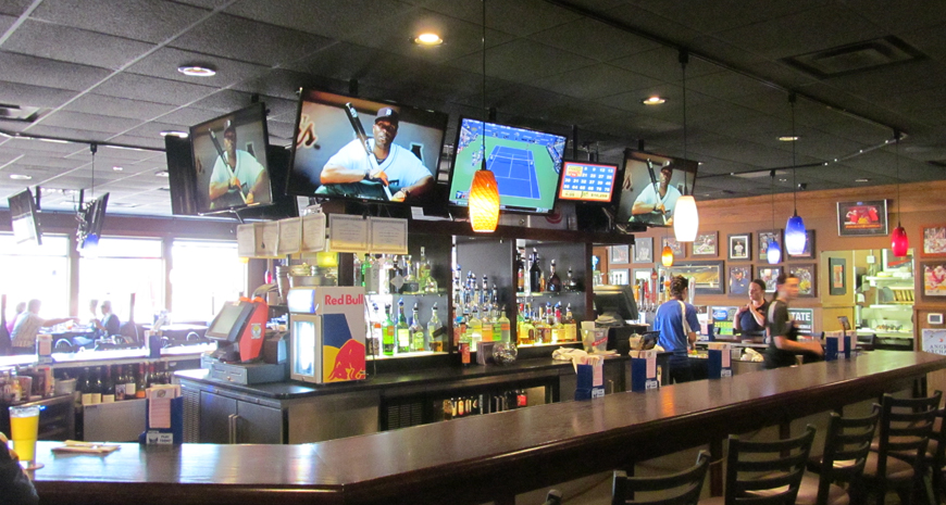 84th Street Pub TV's installed over bar