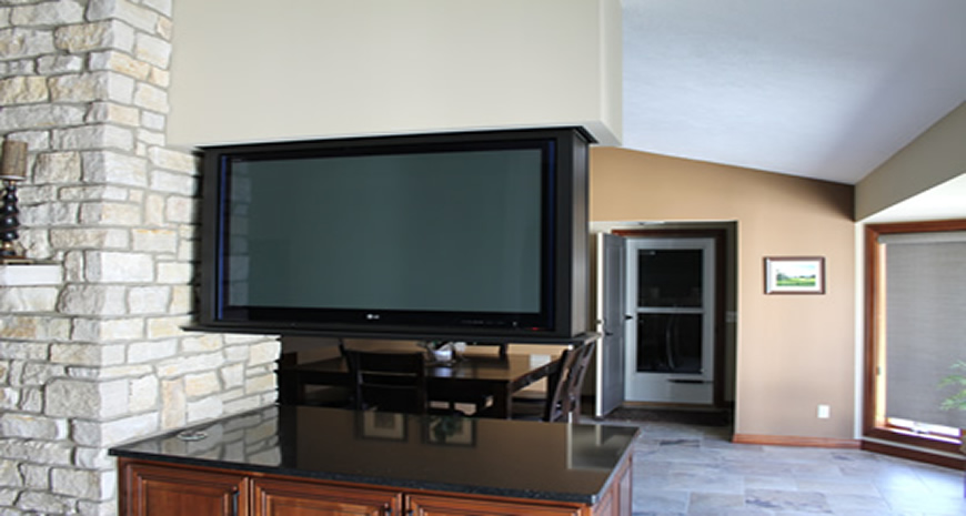 double sided flat screen