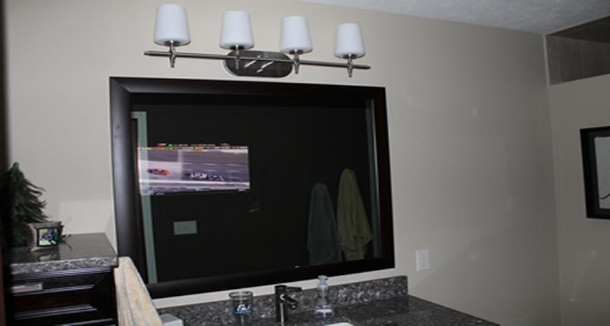 hidden mirror screen